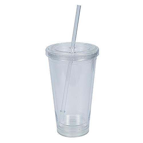CLEAR ACRYLIC INSERTABLE TUMBLER – Party Supplies 1 Piece