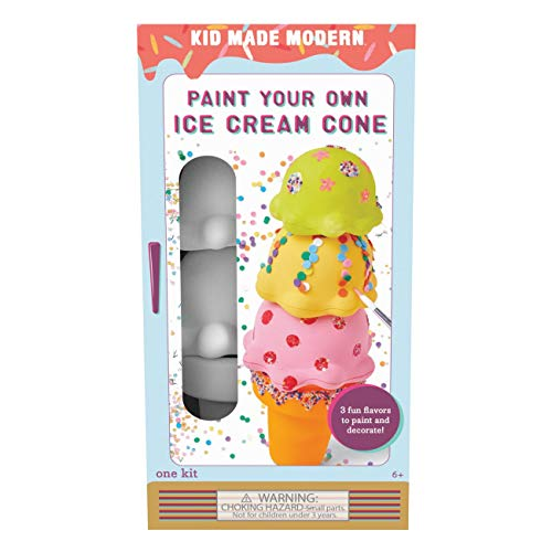 Kid Made Modern Paint Your Own Ice Cream Cone – DIY Toy Set for Kids