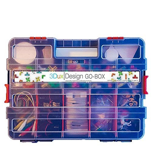 Cardboard Construction Kit with LED Lighting – Educational Over 900 Pieces Perfect for Learning STEM STEAM and Circuits in School at Home by 3DuxDesign GOBOxPRO10