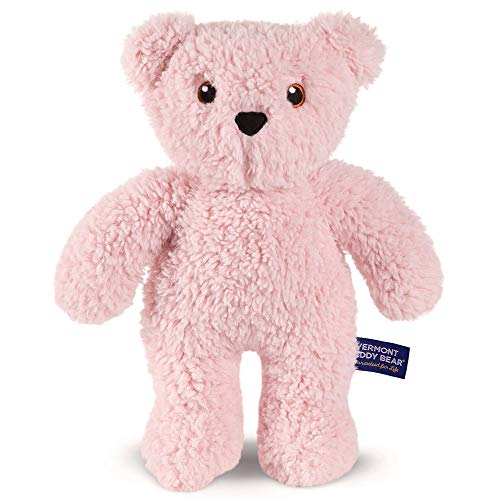 Vermont Teddy Bear Cuddly Toy – Stuffed Animals for Girls and Boys 14 Inch Pink Take Along