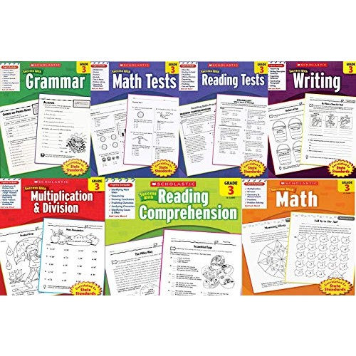 Scholastic Success With – Grade 3 Complete Set (7 books): Multiplication&Division 3 Math 3