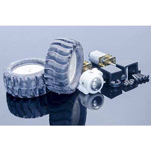ACROBOTIC DIY Robot Kit ~ N20 Micro Metal Gearmotor 100 RPM + Mounting Bracket Wheels for Arduino Raspberry Pi ESP8266 Gear Motor MiniQ