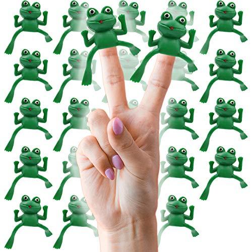The Dreidel Company Vinyl Frog Finger Puppets Passover Toys – Set of 24