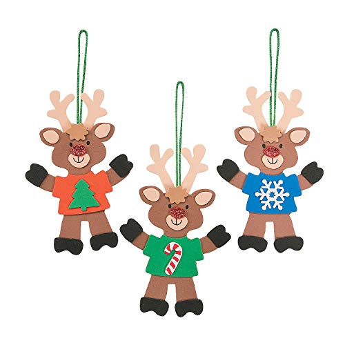 T-Shirt Reindeer Ornament Craft Kit – 12 Crafts for Kids and Fun Home Activities
