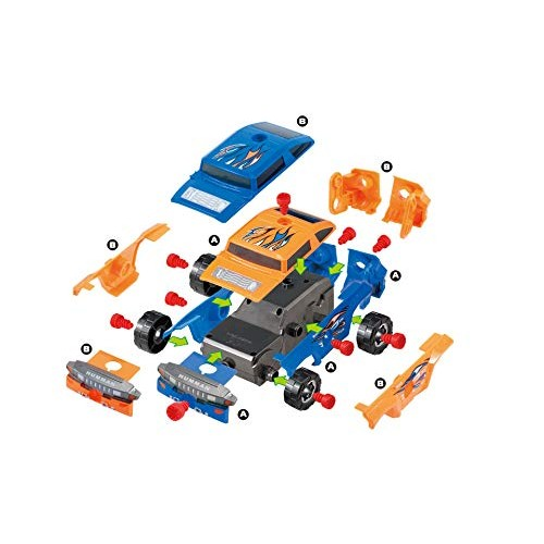 PowerTRC Build Your Own Race Car Kit Fun Educational Development Toy for Kids 35 Pieces and Working Drill
