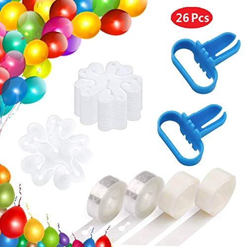 Ouflow Balloon Decorating Strip Kit 32ft Reusable Arch Garland Streamer2 Pcs Tying Tool200 Dot Glue20 Flower Clip for Wedding Birthday xmas Party Decoration Supplies