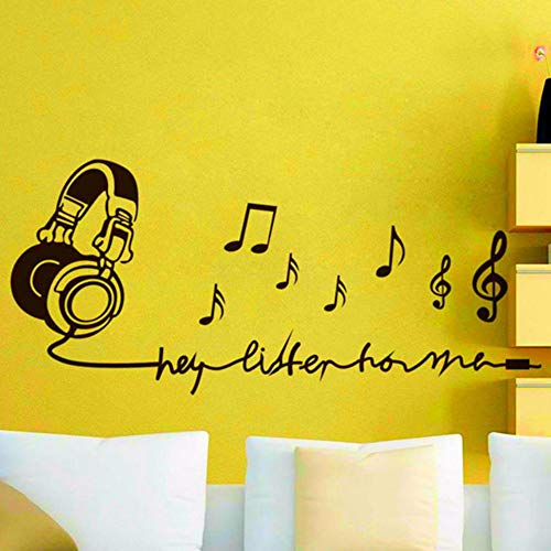 pbldb 67x30Cm Music Note Decorate Wall Ornaments Vinyl Stickers for Kids Room Removable Decals Living Home Decor Mural