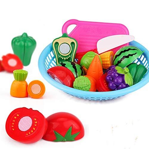 Magnetic Building Blocks Children's Food Set Plastic Cut Fruit and Vegetable Pretend Educational Toy for Boys Girls