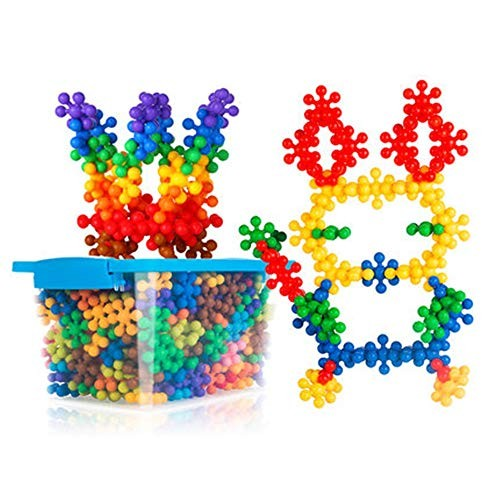 Techecho Magnetic Building Blocks 270 Pieces Mixed Color Random of Children's Educational Toys Construction Set Interlocking Solid Plastic Suitable for Preschool Boys and Girls