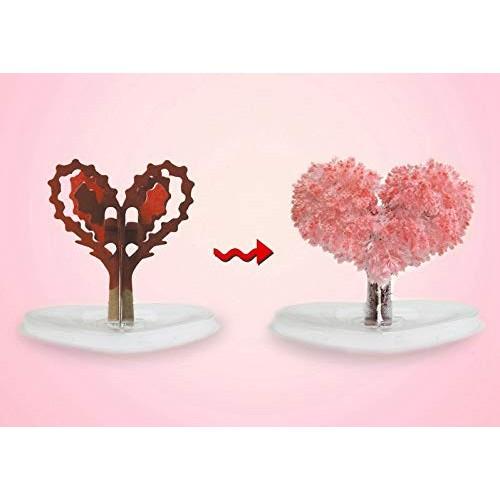 RABONO Magic Growing Crystal Heart Tree Creative Birthday Gift Educational Novelty Kids Games Toy Heart Tree