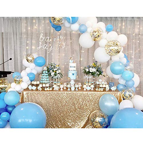 Soonlyn Blue Confetti Balloons 100Pcs Matte Party Latex Balloon Arch GarlandKit for Baby Shower Birthday Decoration 12 Inch 10 5 Inch