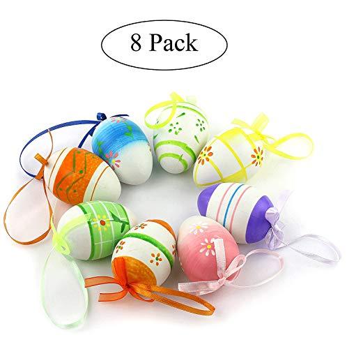 8pcs set Plastic Easter Eggs Ornaments Home Decorations DIY Crafts