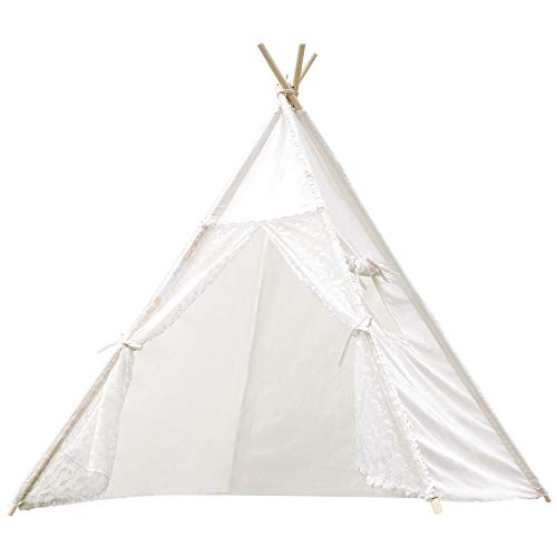 Samincom Classic Play Lace Tent Tipi Kids Room Decor for Indoor & Outdoor-