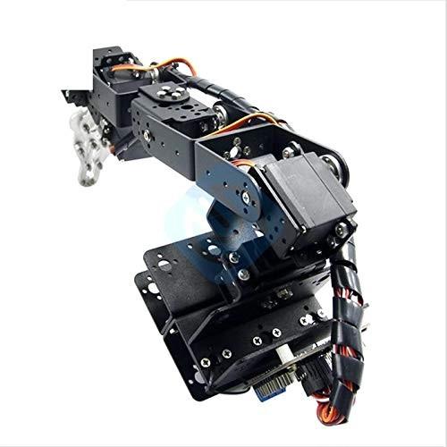 1Set Aluminium Robot 6 DOF Arm Mechanical Robotic Clamp Claw Mount Kit Without Servos for Arduino DIY Parts