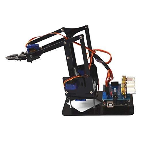 Robot Arm Kit SNAM1900 DIY Mechanical Claw with sg90 Servo and Control Software for Arduino Robotics US 100-240V