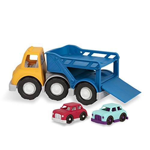 Wonder Wheels by Battat  Car Carrier Truck  Toy Truck with 2 Toy