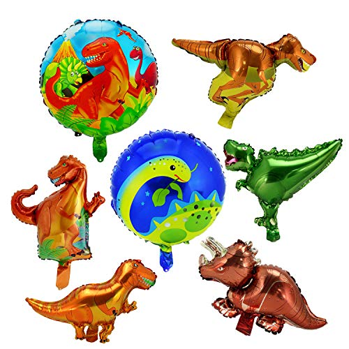 LITTLE SIENA Dinosaur Party Supplies balloons Animal for Birthday baby shower Decoration Kit Inflatable and decorations kids7pcs