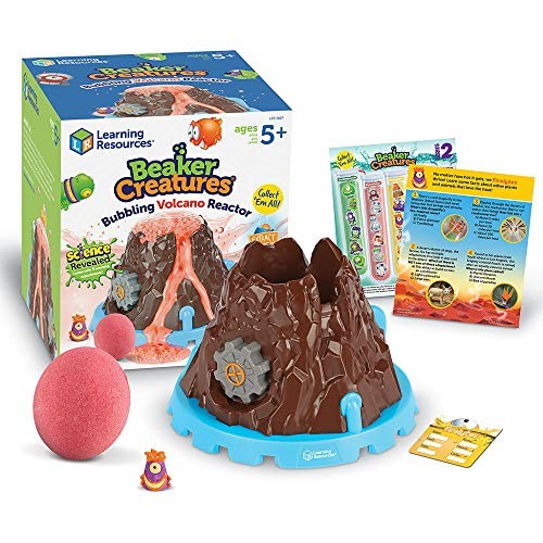 Learning Resources Beaker Creatures Bubbling Volcano Reactor Homeschool STEM Includes 5 Science Experiments 6 Pieces Ages 5+