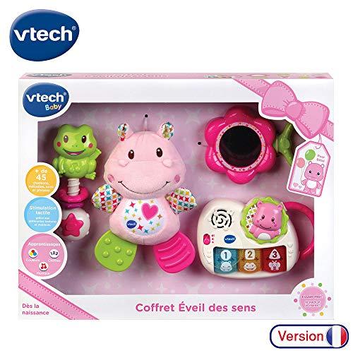 VTech Coffret Naissance veil des sens Rose French Toy