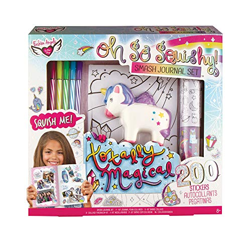 Fashion Angels Oh So Squishy Smash Journal Gift Set Color Decorate Your with Pre-Printed Stickers and Color Own