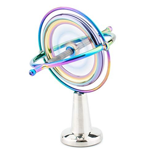 DjuiinoStar Pricision Gyroscope Kill Time Physics Toy Anti-Gravity Spinner Science with Fun GYRO-701