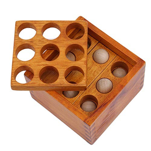 LIUCM Wooden Toy Assembled Building Blocks Puzzle Box Casual Decompression Unlocking