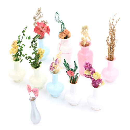 Miniature Flower Vase – Mini Landscape Sand Table Model Dollhouse Decor Diy Decorate Decorative Figurines Miniatures Doll Ta