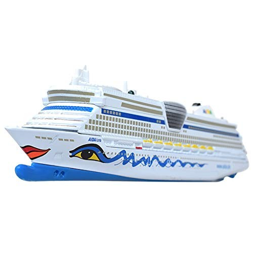SHLIN-Car model Die Casting Car Engineering Vehicle Alloy Cruise Ship Speed Boat Children's Toy Gifts for Kids Color Model