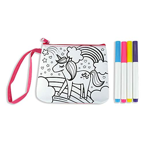 6-Pack DIY Color-Your-Own Purse Craft Kit – Unicorn