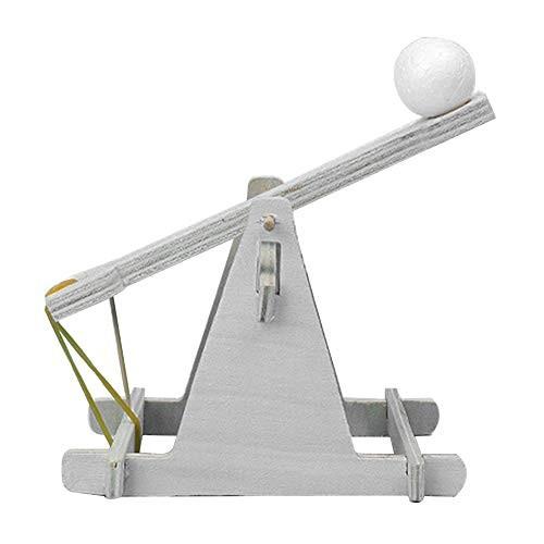 bromrefulgenc DIY Trebuchet Intelligence ToyChildren Scientific Experiment Toy Model Wooden Catapult Kits
