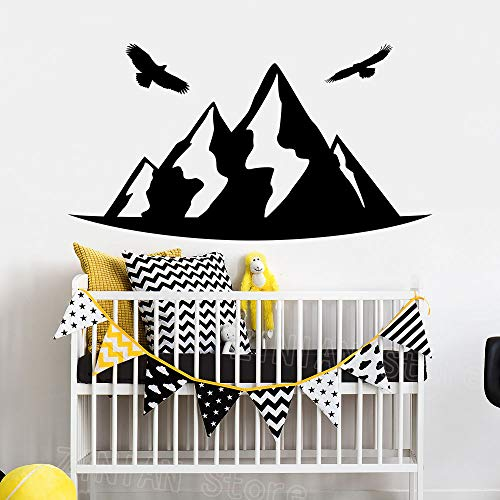 Wall Stickers Art Decor Decals Mountain Birdss Nursery Room Crib Home Interior Decorate Kids Playroom