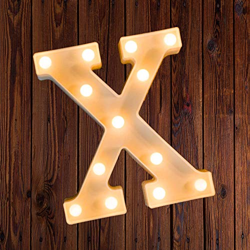LED Marquee Number Lights Sign Light Up Letter for Night Wedding Birthday Party Battery Powered Christmas Lamp Home Bar Decoration x