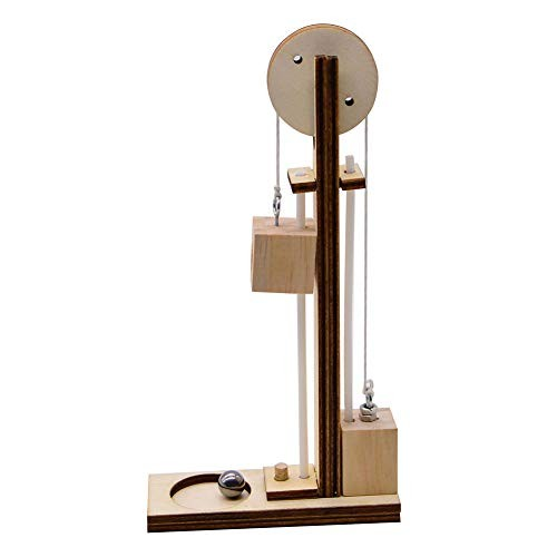 bromrefulgenc Science Experiment Intelligence Toy for KidsDIY Wooden Block Tackle Pulley Students Learning Early Education