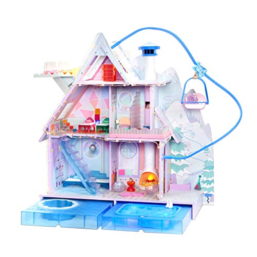 LOL Surprise Winter Disco Chalet Wooden Doll House with Exclusive Family & 95+ Surprises Multicolor