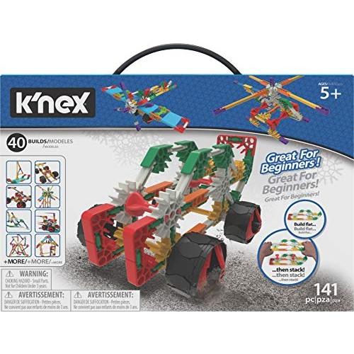 K'NEx Beginner 40 Model Building Set – 141 Parts Ages 5 & Up Creative Toy Multi
