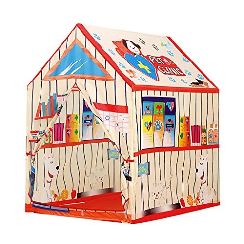 Play Tents Lanna Shop- Children Portable Pet Hospital Room Kids Toy Playhouse for Indoor