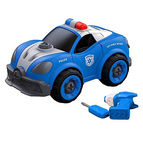 Flybar Remote Control Take Apart Police Car  Take Apart Toys with Electric Drill