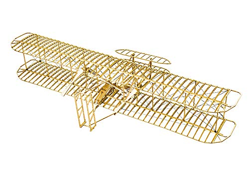 Balsa Wood Airplane Kits- Wright Brothers Flyer DIY Wooden Models Plane Construction Set Laser Cut Aircraft Model Kit 3D Puzzles for Adults Perfect Brain Teaser Jigsaw Puzzle Home Decor