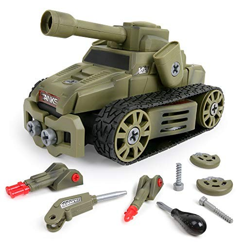 BeebeeRun 10-in-1 DIY Take Apart Military Truck Car Toys for