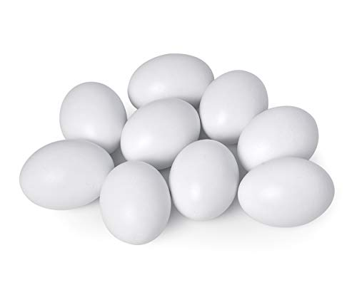 DS DISTINCTIVE STYLE 24 Inch Artificial Nest Egg for Art Project Wooden Easter Eggs 9 Pieces Training Hen Boxes White Fake Food Toy Children Play Kitchen Game