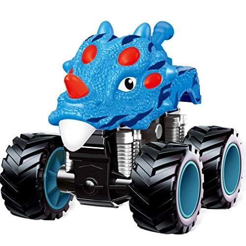 PBOX Dinosaur Monster Truck ToysStunt 360 Spin Friction Powered Cars for KidsPush and Go