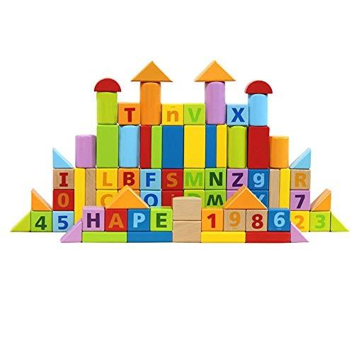 Qi Peng Building Blocks Toys-80 Digital Alphabet Combination Toys Children's Educational Toys-Building Wooden Block