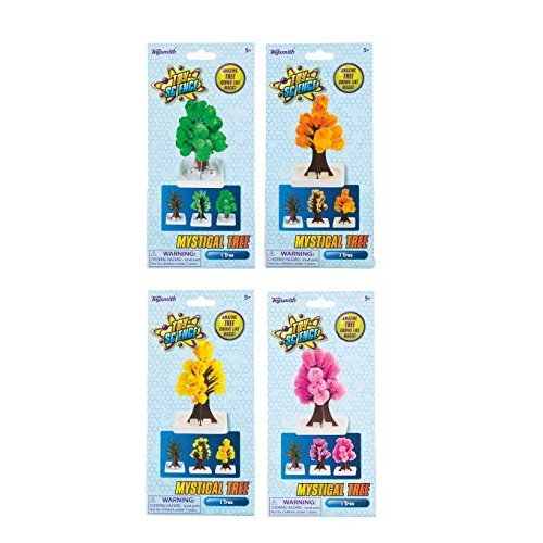 Toysmith 4 Pack Bundle Savers Amazing Magical Crystal-Growing Mystical Trees