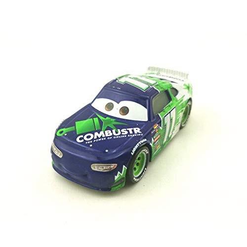 fashionmore Pixar Cars 3 Toys #11 Chip Gearing Mack Hauler Truck & Racer Metal