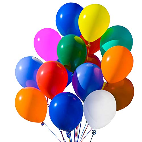 Novelty Place Party Balloons Bright and Assorted Colors 12 Inch 100 Pcs Latex for New Year's eve Wedding Children Birthday Decorations