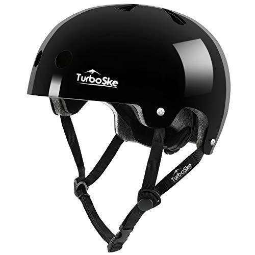 TurboSke Skateboard Helmet Cycling Helmet Scooter Helmet for Kids Youth Men Women Adult