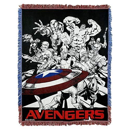 Marvel Avengers Endgame Dream Team Woven Jacquard Throw Blanket 46 x 60 Multi Color