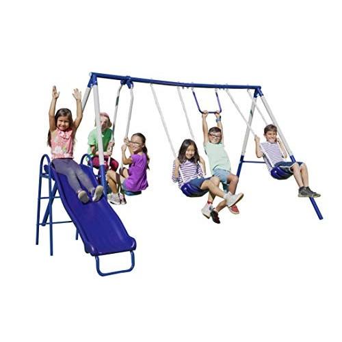 Sportspower Arcadia Swing Set – Outdoor Heavy-Duty Metal Playset for Kids