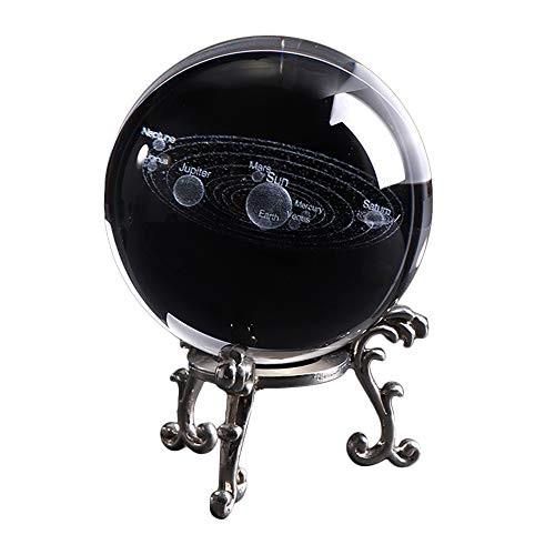 Junmei 3D Crystal BallClear 60 mm K9 Glass Prop Art Decor Display Globe Creative Gift Home DecorationGalaxy Solar System