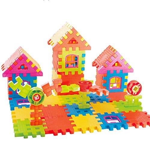 WUSHIYU Wooden Building Blocks Set Magnetic for Kids Construction Tiles Children 108Pcs Birthday Gift Classic Build & Play ToyPremium B